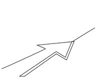 Abstract arrows sign. Continuous line drawing icon. Vector illustration Royalty Free Stock Photos