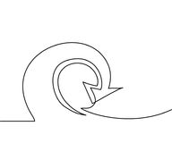 Abstract arrows sign. Continuous line drawing icon. Vector illustration Stock Images