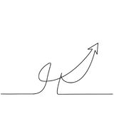 Abstract arrows sign. Continuous line drawing icon. Vector illustration Royalty Free Stock Photography