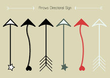 Abstract arrows sign vector design set. Royalty Free Stock Image