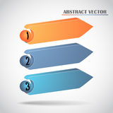 Abstract arrows vector. Abstract arrows. This is file of EPS10 format Royalty Free Stock Photos