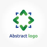 Abstract arrows, vector logo template, direction icon design. Abstract arrows, eco theme logo template, direction icon. Design element for brand design, company Stock Photo