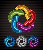 Abstract arrows vector symbol, graphic design Stock Photos