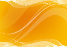 Abstract  art. Orange  art with waves and mesh Royalty Free Stock Image