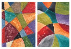 Abstract art. Artistic work. Watercolors on paper Stock Photos
