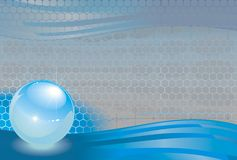 Abstract art backdrop sphere. Honeycomb cell dew wawe Royalty Free Stock Photos