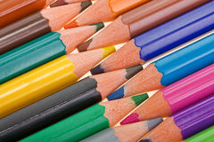 Abstract art background. Macro of multicolored pencils stock photography
