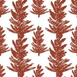 Abstract art  background. Christmas tree seamless pattern illustration for wrapping paper of fabric. Concept winter background Stock Photography