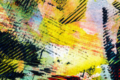 Abstract art background. Closeup shot of abstract hand painted colorful acrylic art background on paper texture. Fragment of artwork Stock Image
