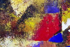 Abstract art background. Oil painting on canvas. Multicolored bright texture. Fragment of artwork. Spots of oil paint. Brushstrokes of paint. Modern art Stock Images