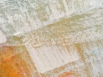 Texture of abstract art background beige colors. Abstract art backgrounds beige and white colors. Multicolor oil painting on canvas. Fragment of artwork Royalty Free Stock Photos