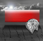 Abstract art: black, white and red banner Royalty Free Stock Image
