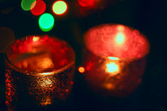 Abstract art blurred image - candles, stock images