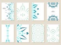 Abstract art card. Vector set of abstract cards. Creative art cards Stock Photos