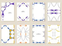 Abstract art card. Vector set of abstract cards. Creative art cards Stock Image