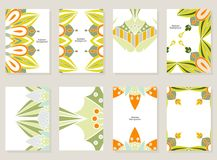 Abstract art card. Vector set of abstract cards. Creative art cards Royalty Free Stock Image