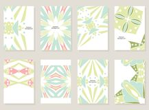 Abstract art card. Vector set of abstract cards. Creative art cards Stock Photo