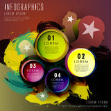 Abstract art circle label infographic elements Royalty Free Stock Photo