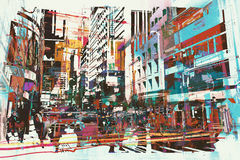 Abstract art of cityscape Stock Photos