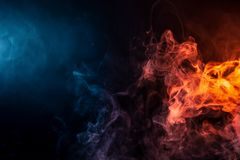 Abstract art colored smoke stock photography
