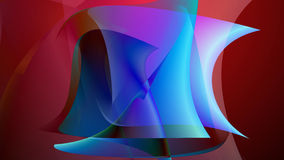 Abstract art colorful background. With bend shapes. 3d illustration Royalty Free Illustration