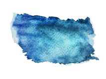 Abstract art of colorful bright ink and watercolor textures on white paper background stock image