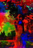 Abstract Art Colorful Landscape Stock Photo
