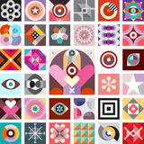 Abstract Art Composition. Composition of abstract geometric patterns. Vector background Royalty Free Stock Photography