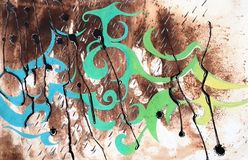 Abstract art creative background. Hand painted background. royalty free illustration