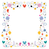 Abstract art cute frame. Design element with copy space Royalty Free Stock Images