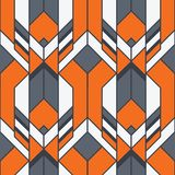 Abstract art deco color seamless pattern. Vector modern geometric tiles pattern. color lined shape. Abstract art deco seamless luxury background stock illustration