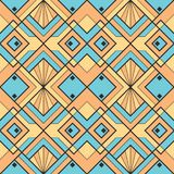 Abstract art deco color seamless pattern. Vector modern geometric tiles pattern. Abstract art deco color seamless luxury background vector illustration