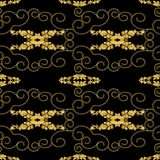 GOLD CORDS AND GOLD CHAIN SWIRLS SEAMLESS PATTERN ILLUSTRATION vector illustration