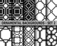 Abstract art deco geometric seamless patterns. Set. Template for design Royalty Free Stock Image