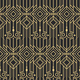 Abstract art deco modern seamless pattern. Vector modern tiles pattern. Abstract art deco seamless monochrome background Stock Photos
