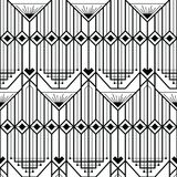 Abstract art deco modern style seamless pattern. Vector modern tiles pattern. Abstract art deco seamless monochrome background Stock Image