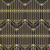 Abstract art deco modern style seamless pattern. Vector modern tiles pattern. Abstract art deco seamless monochrome background Royalty Free Stock Photos