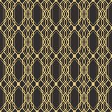Abstract art deco modern tiles pattern05. Vector modern geometric tiles pattern. golden lined shape. Abstract art deco seamless luxury background Stock Images