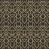 Abstract art deco modern tiles pattern04. Vector modern geometric tiles pattern. golden lined shape. Abstract art deco seamless luxury background stock illustration