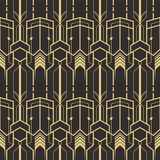 Abstract art deco modern tiles pattern. Vector modern tiles pattern. Abstract art deco seamless monochrome background royalty free illustration