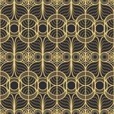 Abstract art deco modern tiles pattern. Vector modern tiles pattern. Abstract art deco seamless monochrome background vector illustration