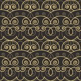 Abstract art deco pattern background. Vector modern tiles pattern. Abstract art deco seamless monochrome background royalty free illustration