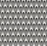 Abstract Art Deco Seamless Background. Geometric Fish Scale Pattern. Classic Art Deco Seamless Pattern. Geometric Stylish Texture. Abstract Retro Vector Texture Royalty Free Stock Images