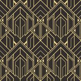 Abstract art deco seamless modern tiles pattern Stock Photos
