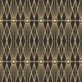 Abstract art deco seamless pattern 05. Vector modern geometric tiles pattern. golden lined shape. Abstract art deco seamless luxury background Stock Image