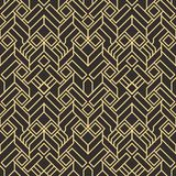 Abstract art deco seamless pattern 04. Vector modern geometric tiles pattern. golden lined shape. Abstract art deco seamless luxury background vector illustration