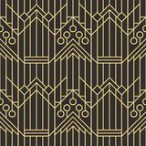 Abstract art deco seamless pattern 06. Vector modern geometric tiles pattern. golden lined shape. Abstract art deco seamless luxury background royalty free illustration