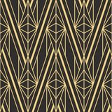 Abstract art deco seamless pattern 04. Vector modern geometric tiles pattern. golden lined shape. Abstract art deco seamless luxury background stock illustration