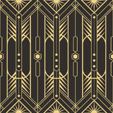 Abstract art deco seamless pattern Stock Images
