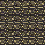 Abstract art deco seamless pattern_1. Vector modern tiles pattern. Abstract art deco seamless monochrome background Stock Images